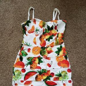 Aritzia Talula Fruit Salad Body Con dress